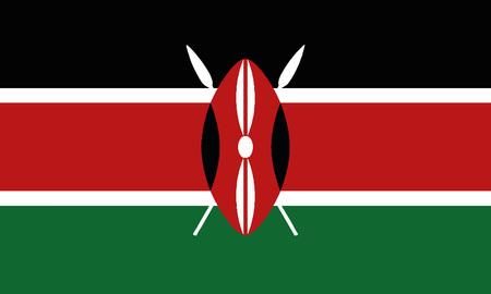 Illustrazione per Detailed Illustration National Flag Kenya - Immagini Royalty Free