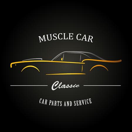 Illustration pour Classic muscle car silhouette. Vehicle silhouette design. Vector illustration. - image libre de droit