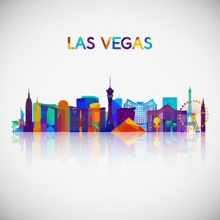 Illustration pour Las Vegas skyline silhouette in colorful geometric style. Symbol for your design. Vector illustration. - image libre de droit