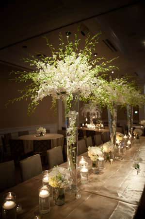 Foto de Image of a beautifully decorated wedding venue - Imagen libre de derechos