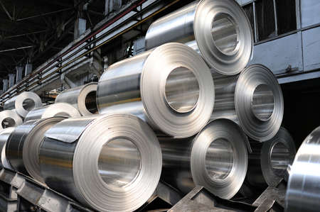 Photo pour Rolls of steel sheet - image libre de droit