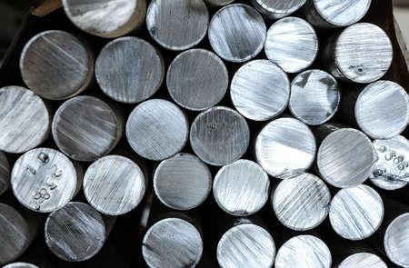 Photo pour Aluminium rods in smelting plant - image libre de droit