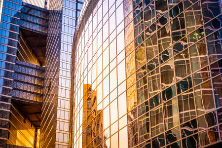 Photo for Glass wall of modern skyscraper building. Success, business and development concept or background - Royalty Free Image