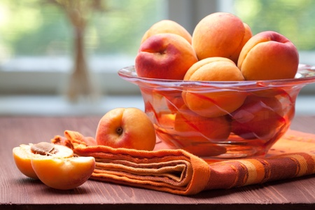Photo for bowl of fresh and sweet apricots - Royalty Free Image
