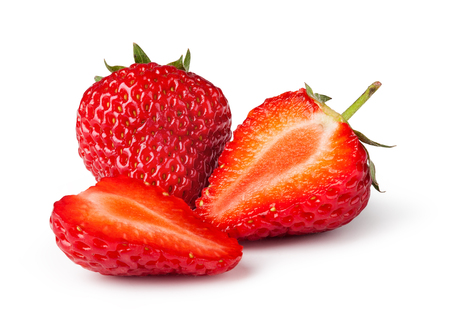 Foto de Strawberries. Isolated on a white background. - Imagen libre de derechos