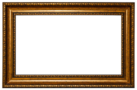 Photo pour antique golden frame isolated on white background - image libre de droit