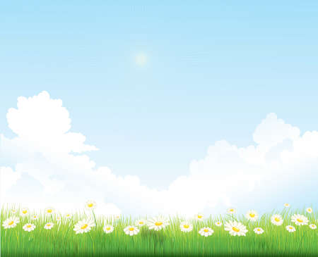 Illustration pour spring sky vector background - image libre de droit