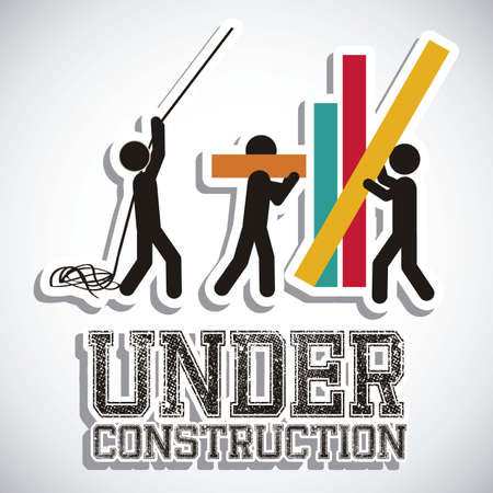 Photo pour Illustration of under construction, Construction Icons, Site, worker, tools illustration - image libre de droit