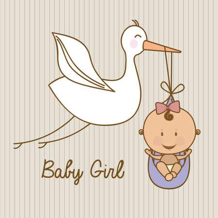 Ilustración de baby shower design over lineal background vector illustration   - Imagen libre de derechos