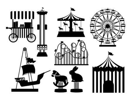 Illustration pour Theme park design over white background, vector illustration - image libre de droit