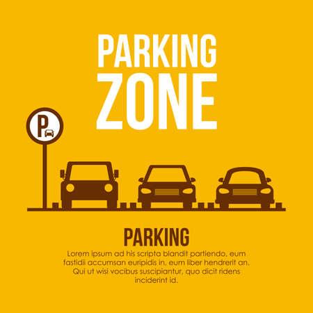 Illustration pour Parking design over yellow background, vector illustration. - image libre de droit