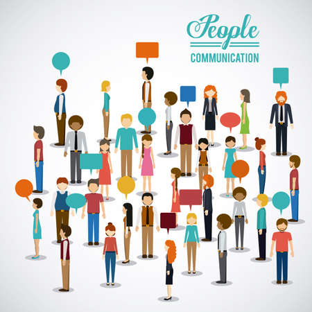 Ilustración de People design over white background, illustration. - Imagen libre de derechos