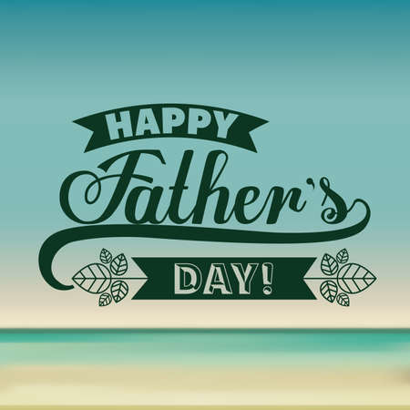 Illustration pour fathers day design over colored background, vector illustration - image libre de droit