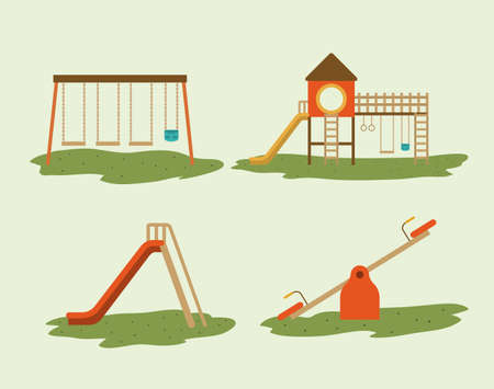 Illustration for Playground design over white background, vector illustration - Royalty Free Image