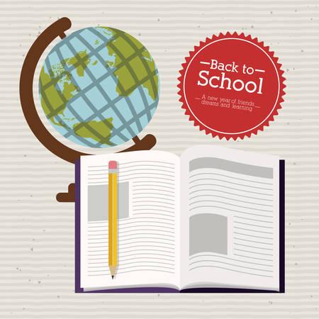 Illustration pour Back to school over white background, vector illustration - image libre de droit