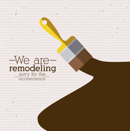 Illustration pour Under construction design over white background, vector illustration - image libre de droit