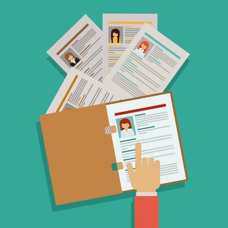 Illustration pour Human resources digital design, vector illustration eps 10 - image libre de droit