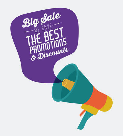 Ilustración de Promotions and discounts  message digital design - Imagen libre de derechos