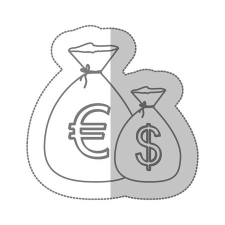 Illustration pour euro and dollar currency symbol icon image, vector illustration - image libre de droit