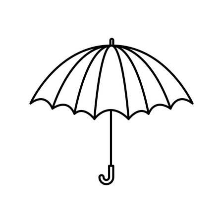 Ilustración de black silhouette with opened umbrella vector illustration - Imagen libre de derechos