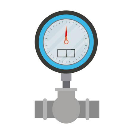 Ilustración de white background with color silhouette of water meter vector illustration - Imagen libre de derechos