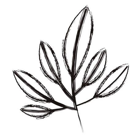 Ilustración de leafs plant ecology icon vector illustration design - Imagen libre de derechos