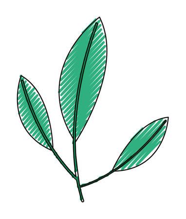 Ilustración de Leafs plant ecology icon vector illustration design. - Imagen libre de derechos