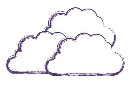 Illustration pour cloud silhouette isolated icon vector illustration design - image libre de droit