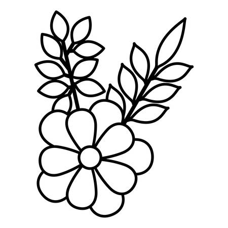 Illustration for flowers and leafs decoratives vector illustration design - Royalty Free Image