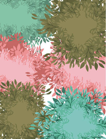leafs painted watercolor frame vector illustration design