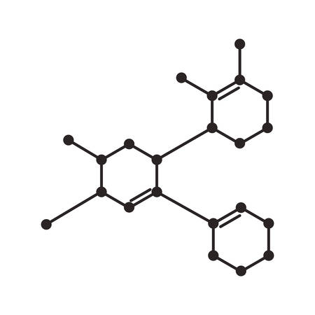 Ilustración de structure molecular science icon vector illustration design - Imagen libre de derechos