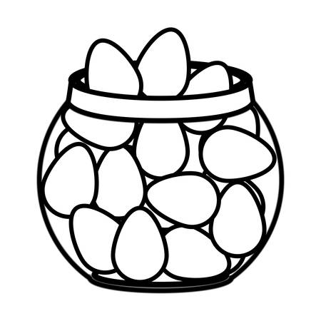 container with eggs isolated icon vector illustration desing