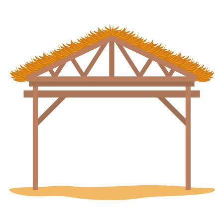 Illustration pour wooden stable manger icon vector illustration design - image libre de droit