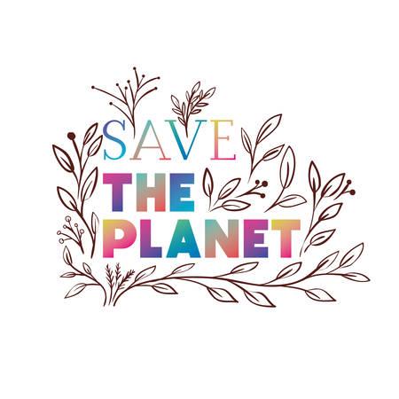 Illustration pour save the planet label icon vector illustration design - image libre de droit