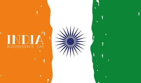Illustration pour independence day indian flag background vector illustration design - image libre de droit
