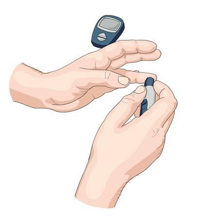 Illustration pour Blood test. - image libre de droit