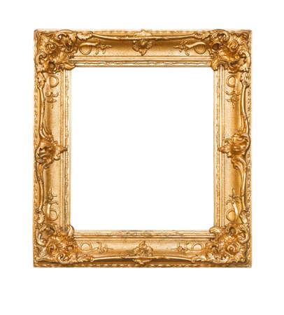Photo pour Empty old painting frame - image libre de droit