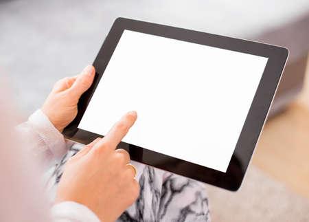 Foto für Woman using tablet computer - Lizenzfreies Bild