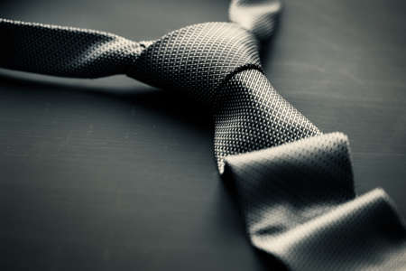 Foto de Dark grey tie - Imagen libre de derechos