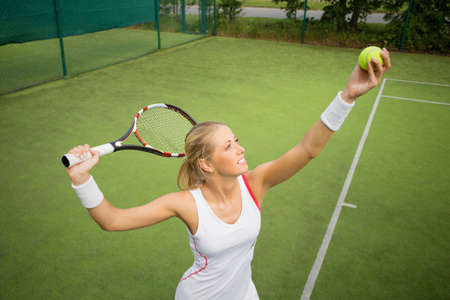 Photo for Woman in tennis practice - Royalty Free Image