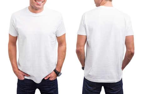 Foto de Man's white T-shirt - Imagen libre de derechos