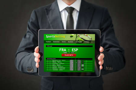 Photo for Sports betting website on tablet - Royalty Free Image