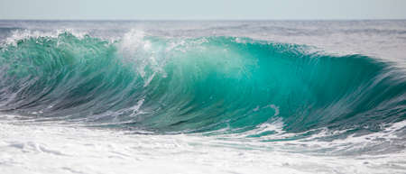 Photo for Turquoise blue wave - Royalty Free Image