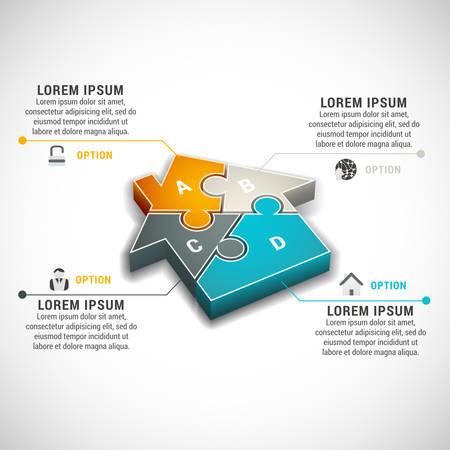 Illustration pour illustration of business infographic made of house.  - image libre de droit