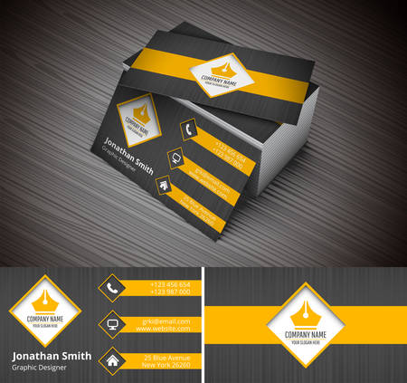 Illustration pour Vector illustration of creative business card. - image libre de droit
