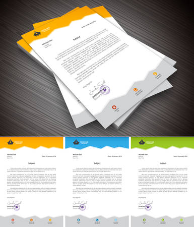 Illustration pour This is simple and creative letterhead for business and personal purpose usages. - image libre de droit