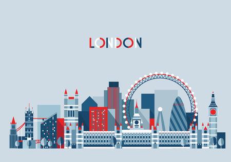 Photo for London, England city skyline vector. Flat trendy illustration - Royalty Free Image