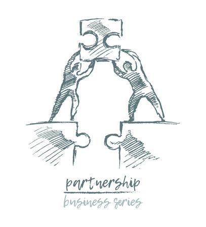 Ilustración de Business concept partnership teamwork vector - Imagen libre de derechos