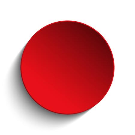 Illustration pour Red Circle Button on White Background - image libre de droit