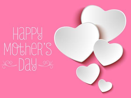 Illustration pour Vector - Happy Mother Day Heart Background - image libre de droit
